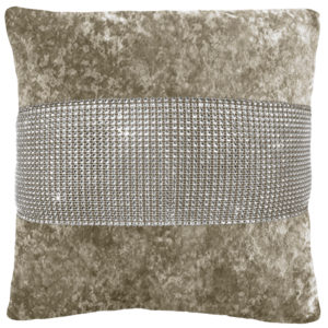 Cushion Covers DIAMANTE CRUSHED VELVET CUSHION COVER NATURAL