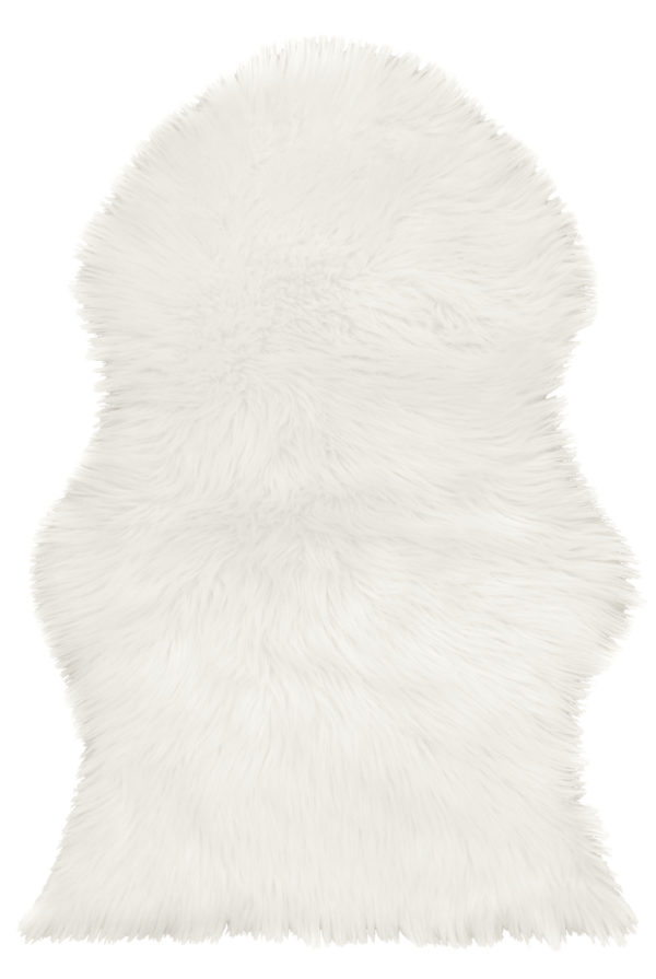 Household FAUX SHEEPSKIN RUG WHITE