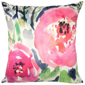Cushions FLORAL CUSHION COVER ROSE SWIRL