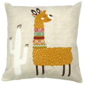 Cushion Covers FUNKY LLAMA CUSHION COVER