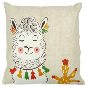 Cushion Covers BLUSHING LLAMA CUSHION COVER