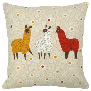Cushion Covers 3 LLAMAS CUSHION COVER