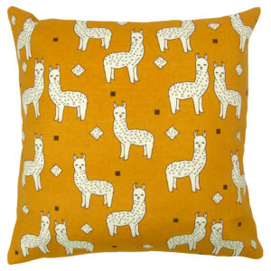 Cushion Covers LLAMA FAMILY CUSHION COVER