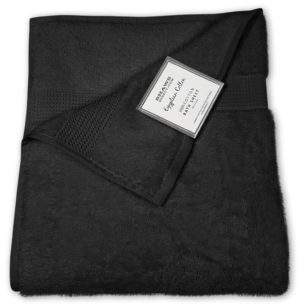 Bathroom PLAIN EGYPTIAN TOWELS BLACK