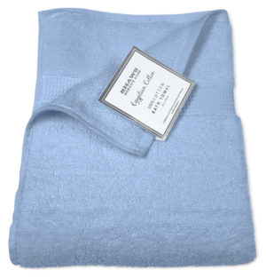 Bathroom PLAIN EGYPTIAN TOWELS BLUE