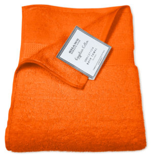 Bathroom PLAIN EGYPTIAN TOWELS ORANGE