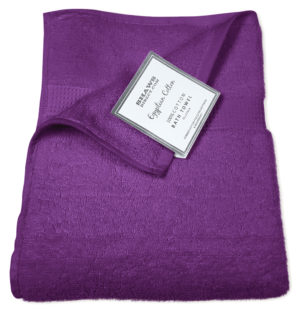 Bathroom PLAIN EGYPTIAN TOWELS PURPLE