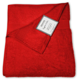 Bathroom PLAIN EGYPTIAN TOWELS RED