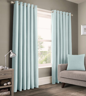 Curtains PANAMA COTTON RING TOP CURTAINS DUCK EGG