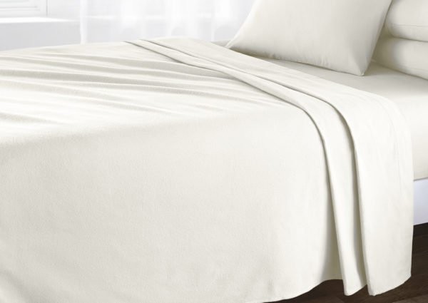 Bedding BRUSHED COTTON FLAT SHEET CREAM