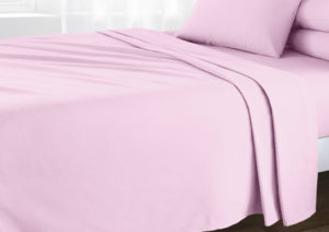 Bedding BRUSHED COTTON FLAT SHEET PINK
