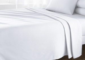 Bedding BRUSHED COTTON FLAT SHEET WHITE