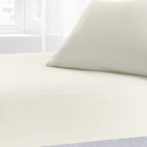 Bedding BRUSHED COTTON FITTED SHEET CREAM