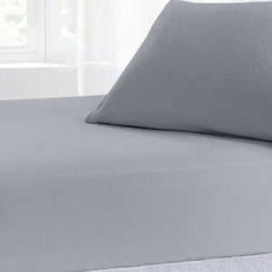 Bedding BRUSHED COTTON FITTED SHEET GREY