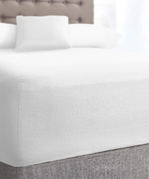 Bedding SHAWSDIRECT TERRY STRETCH FITTED SHEET WHITE