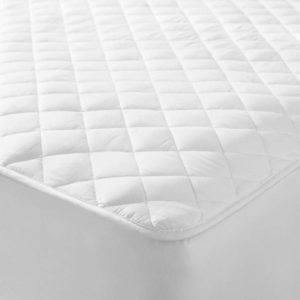 Bedding QUILTED MATTRESS PROTECTOR WHITE