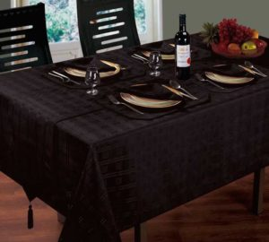 Kitchen & Dining HAMPTON TABLE LINEN BLACK
