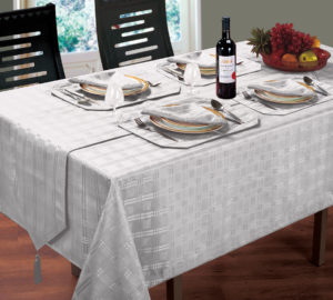 Kitchen & Dining HAMPTON TABLE LINEN SILVER