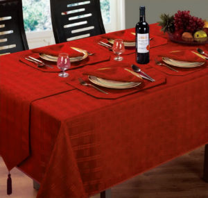Kitchen & Dining HAMPTON TABLE LINEN RED