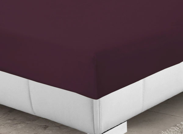 Bedding SHAWSDIRECT FITTED SHEET AUBERGINE