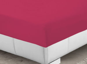 Bedding SHAWSDIRECT FITTED SHEET CERISE