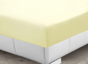 Bedding SHAWSDIRECT FITTED SHEET LEMON