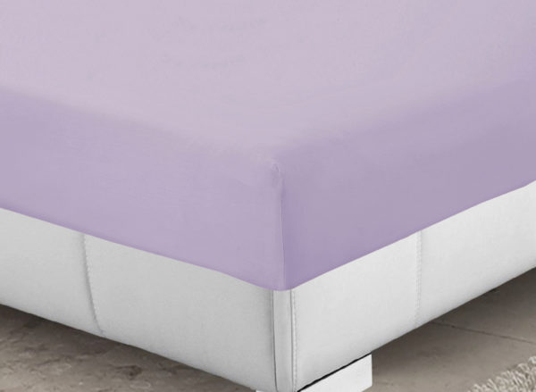 Bedding SHAWSDIRECT FITTED SHEET LILAC
