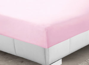 Bedding SHAWSDIRECT FITTED SHEET PINK