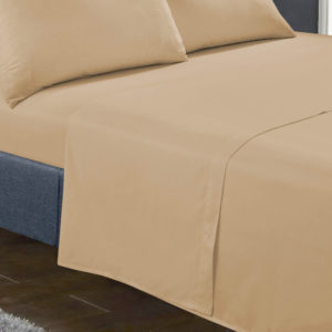 Bedding SHAWSDIRECT FLAT SHEET BEIGE
