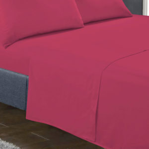 Bedding SHAWSDIRECT FLAT SHEET CERISE