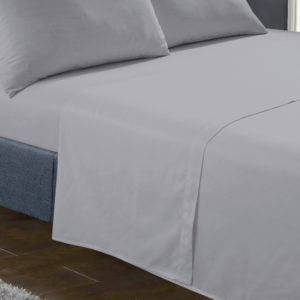 Bedding SHAWSDIRECT FLAT SHEET GREY