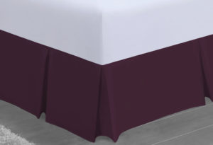 Bedding SHAWSDIRECT PLATFORM VALANCE AUBERGINE