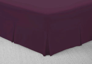 Bedding SHAWSDIRECT FITTED VALANCE SHEET AUBERGINE