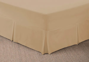 Bedding SHAWSDIRECT FITTED VALANCE SHEET BEIGE