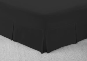 Bedding SHAWSDIRECT FITTED VALANCE SHEET BLACK