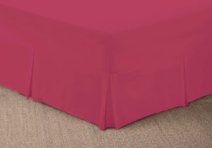 Bedding SHAWSDIRECT FITTED VALANCE SHEET CERISE