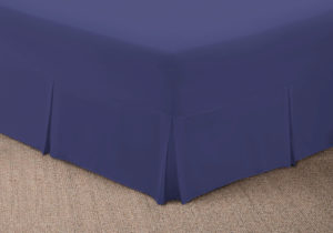 Bedding SHAWSDIRECT FITTED VALANCE SHEET FRENCH BLUE
