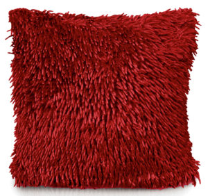 Cushion Covers SHAGGY CHENILLE CUSHION COVER RED