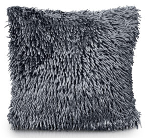 Cushion Covers SHAGGY CHENILLE CUSHION COVER CHARCOAL