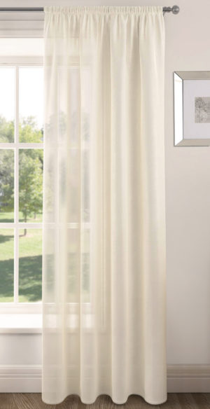 Curtains RIVA PLAIN VOILE PANEL CREAM