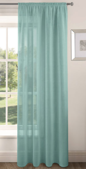 Curtains RIVA PLAIN VOILE PANEL DUCK EGG