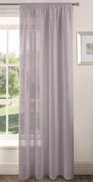 Curtains RIVA PLAIN VOILE PANEL MAUVE