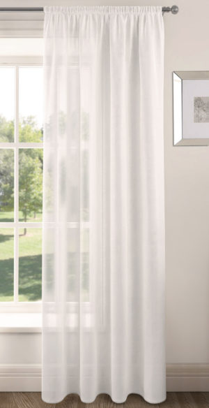 Curtains RIVA PLAIN VOILE PANEL WHITE