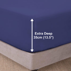 Bedding SHAWSDIRECT EXTRA DEEP BOX FITTED SHEET FRENCH BLUE