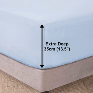 Bedding SHAWSDIRECT EXTRA DEEP BOX FITTED SHEET ICE BLUE