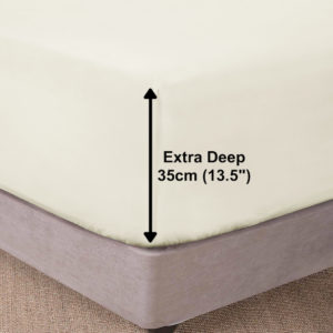 Bedding SHAWSDIRECT EXTRA DEEP BOX FITTED SHEET IVORY
