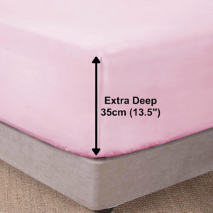 Bedding SHAWSDIRECT EXTRA DEEP BOX FITTED SHEET PINK