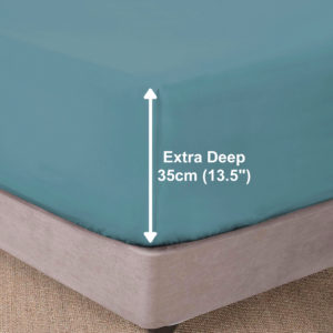 Bedding SHAWSDIRECT EXTRA DEEP BOX FITTED SHEET TEAL