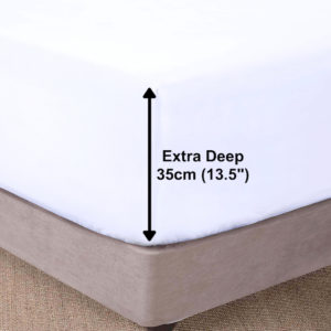 Bedding SHAWSDIRECT EXTRA DEEP BOX FITTED SHEET WHITE