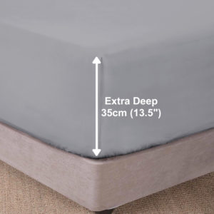 Bedding SHAWSDIRECT EXTRA DEEP BOX FITTED SHEET GREY